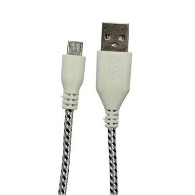 Cáp sạc USB dây Dù 1m Data (v8-Sky)