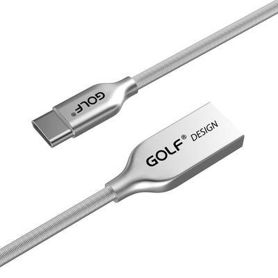 Cáp sạc nhanh USB Type C GOLF 2.4A nhôm