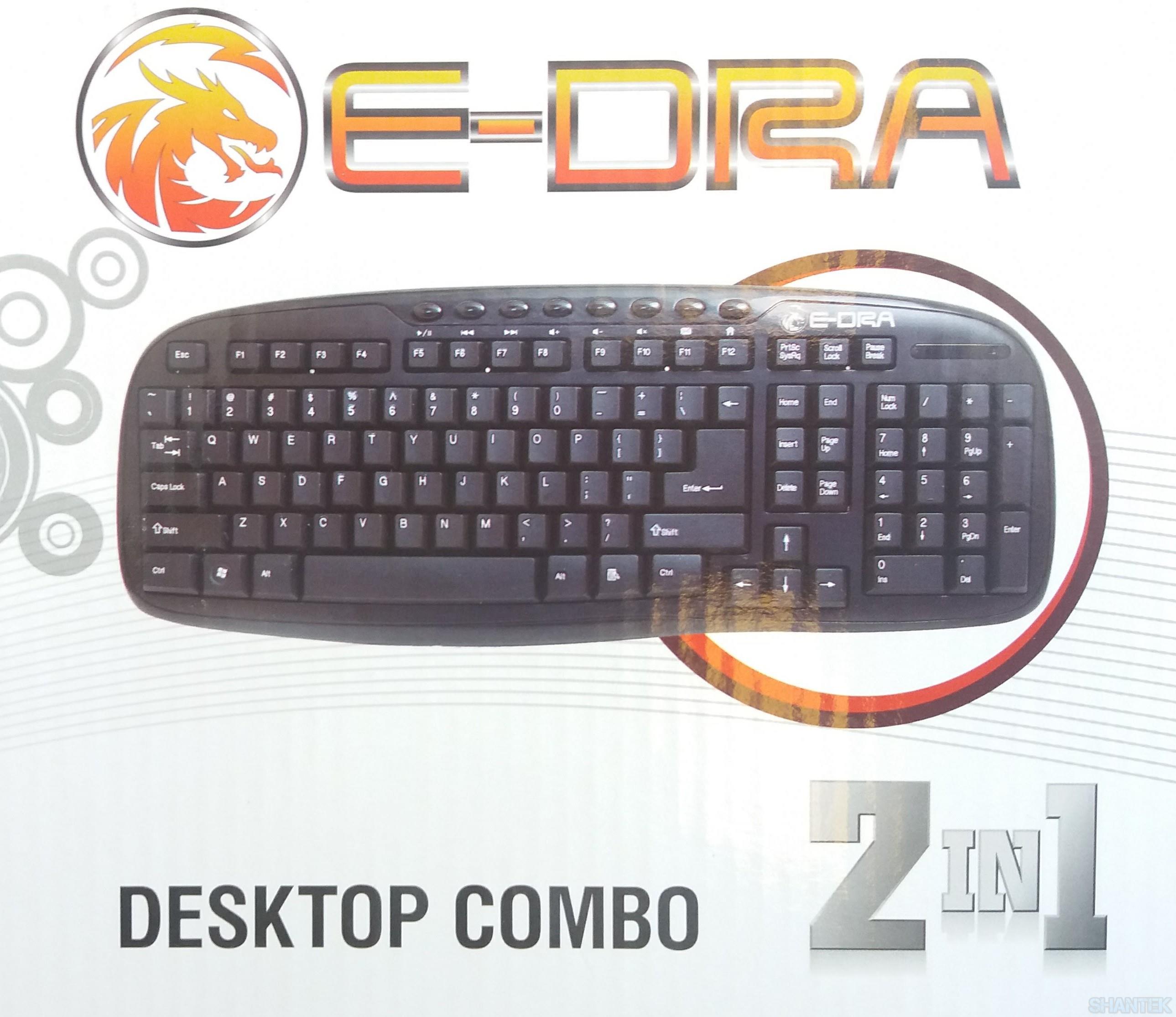 Bộ Chuột & Bàn phím E-Dra EC888BK Wireless