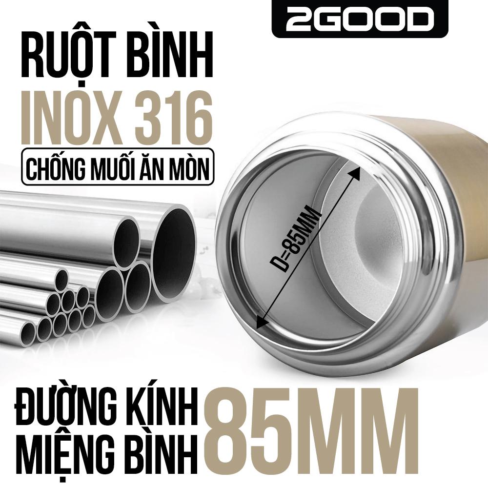 Bình ủ cháo inox 2Good 1000ml
