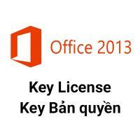 Key Microsoft Office 2013 Pro Plus 32/64 Bit bản quyền