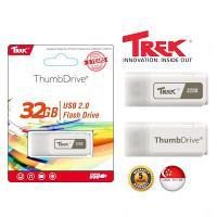 USB 32GB TREK ThumbDrive TD WHITE USB 2.0
