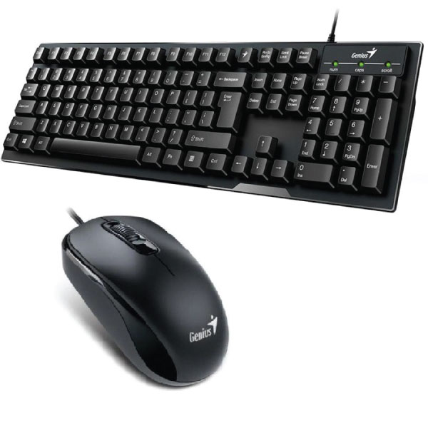 Bộ bàn phím chuột Genius Smart KB-102 và chuột dây Genius DX-110