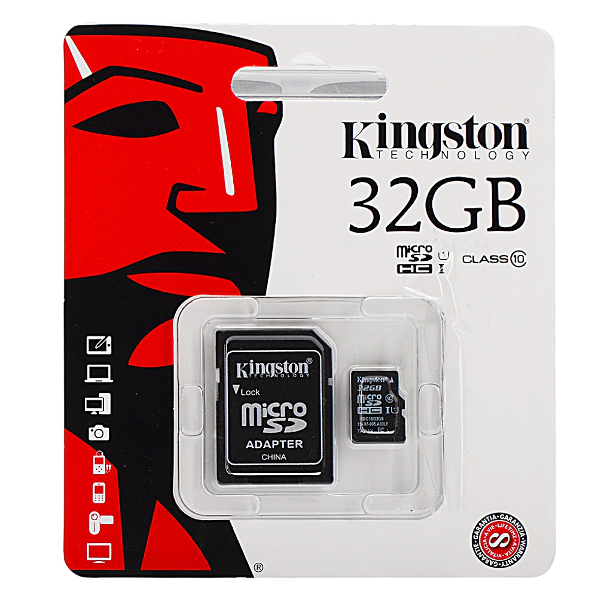 Thẻ nhớ Micro-SD 32G Kingston  Class 10