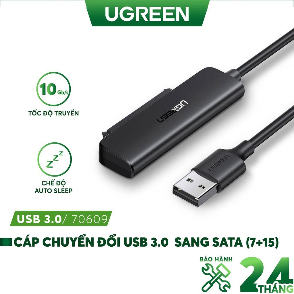 Cáp Chuyển USB Type-C Sang SATA III Ugreen, hỗ trợ ổ cứng 2.5 inch HDD SSD